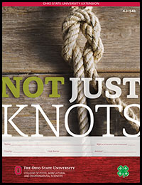 Cover of the Not Just Knots project book