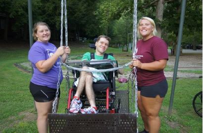 Counselors and campers at State 4-H Special Needs Camp