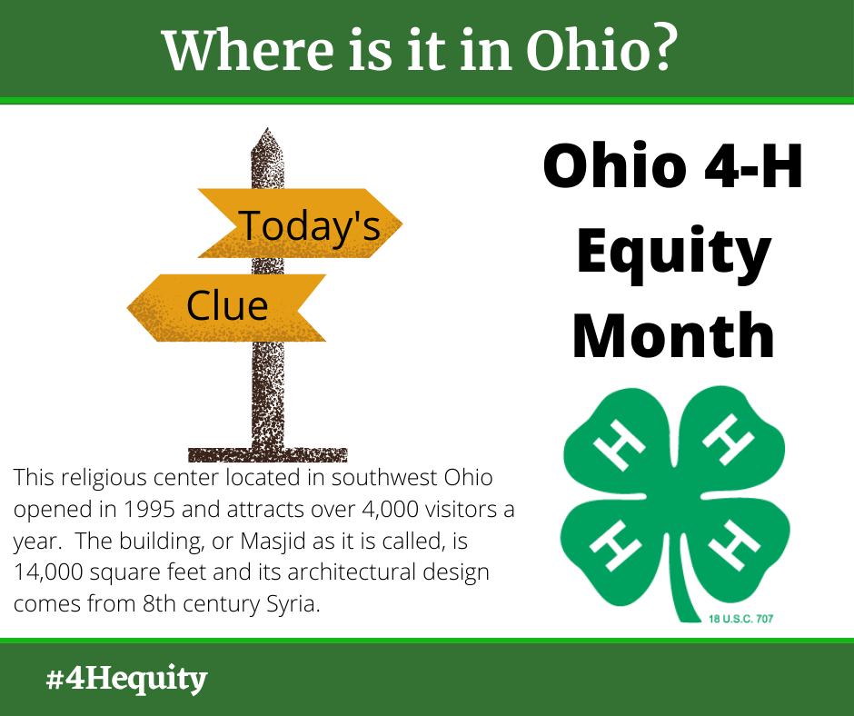 Ohio 4-H Equity Month-where in Ohio