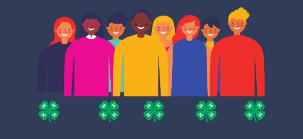 drawing of youth with clovers