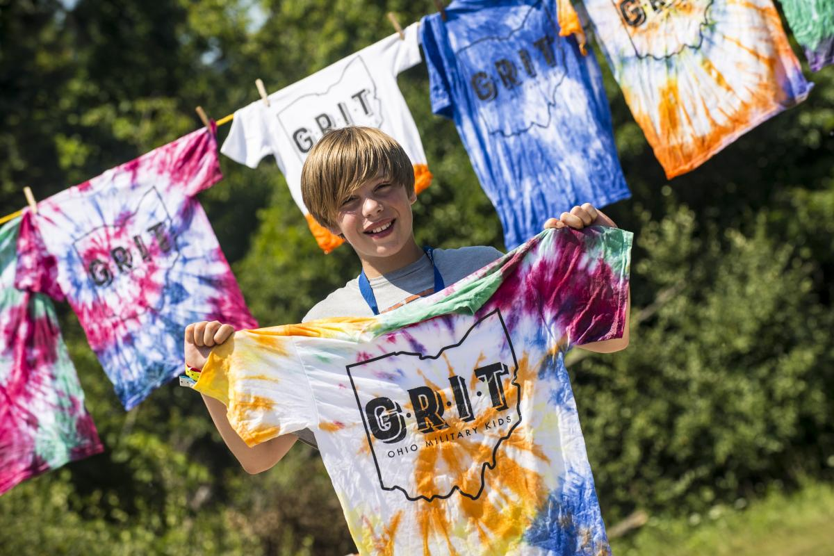 You can always find an Ohio Military Kid with a tie-dyed camp shirt, a 15-year old tradition!