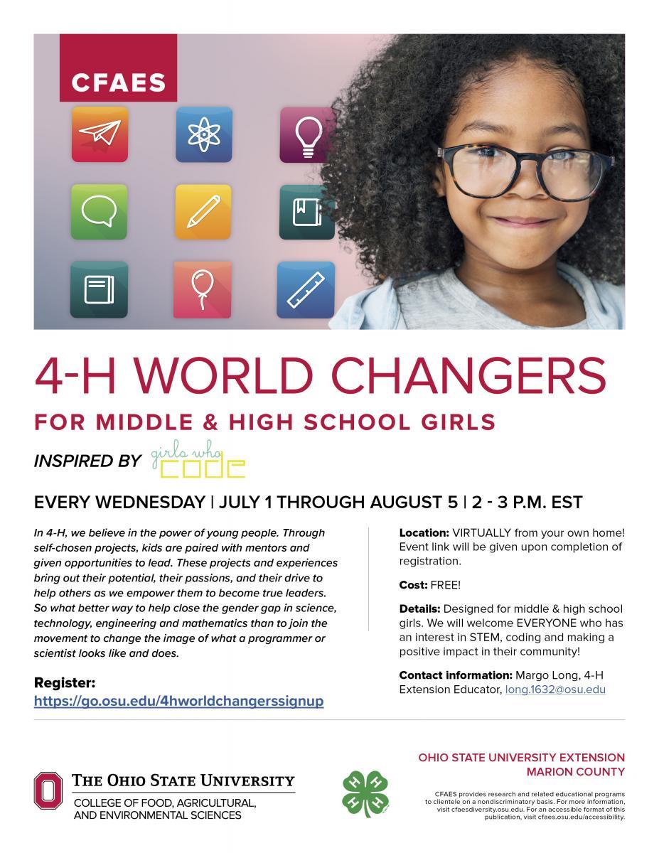 4-H World Changers flyer