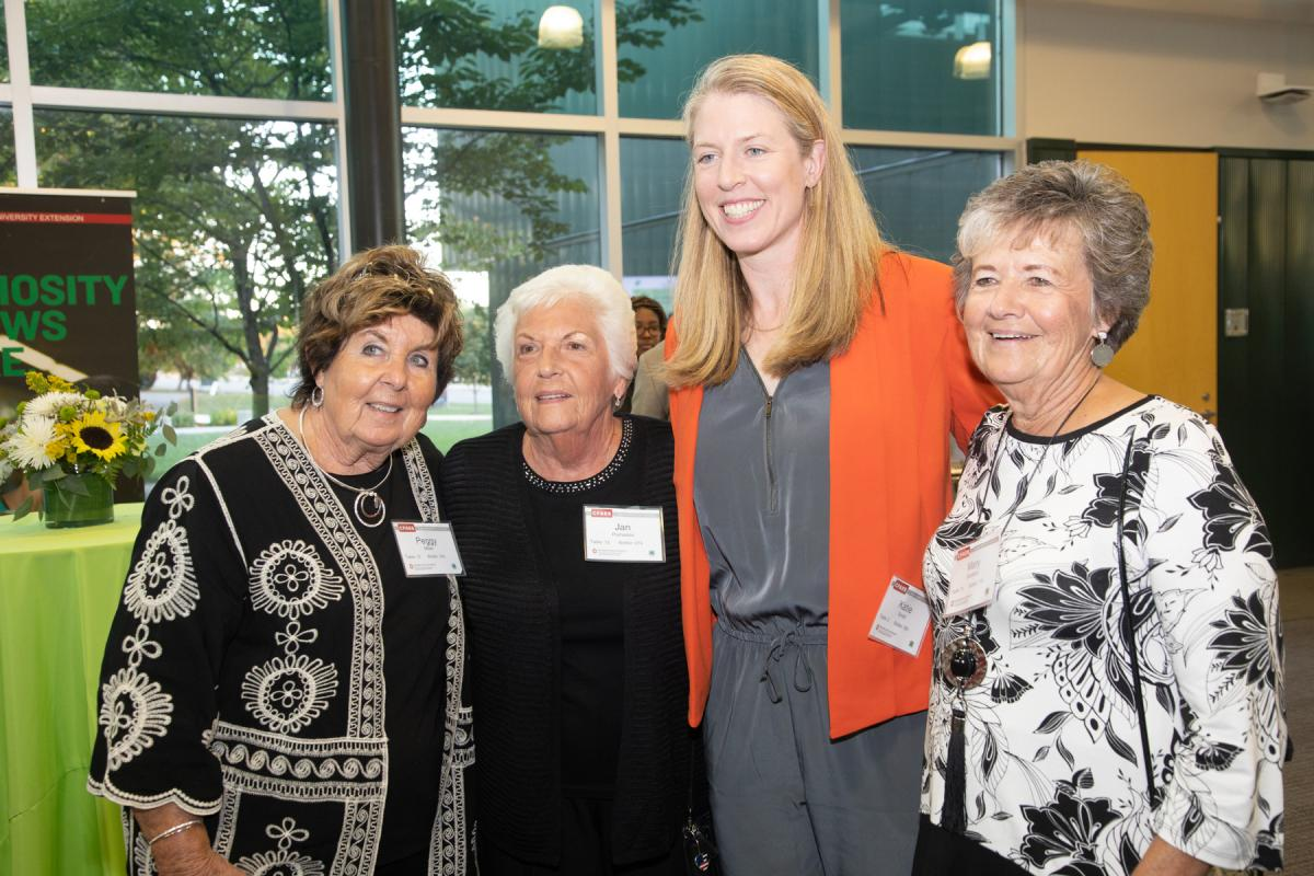 Katie Smith with guests at the 2019 Celebration of Youth.
