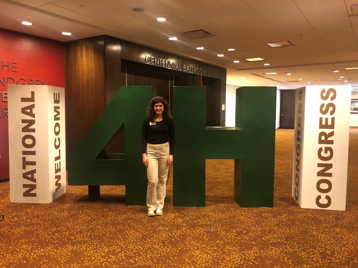 Cecilia at National 4-H Congress.