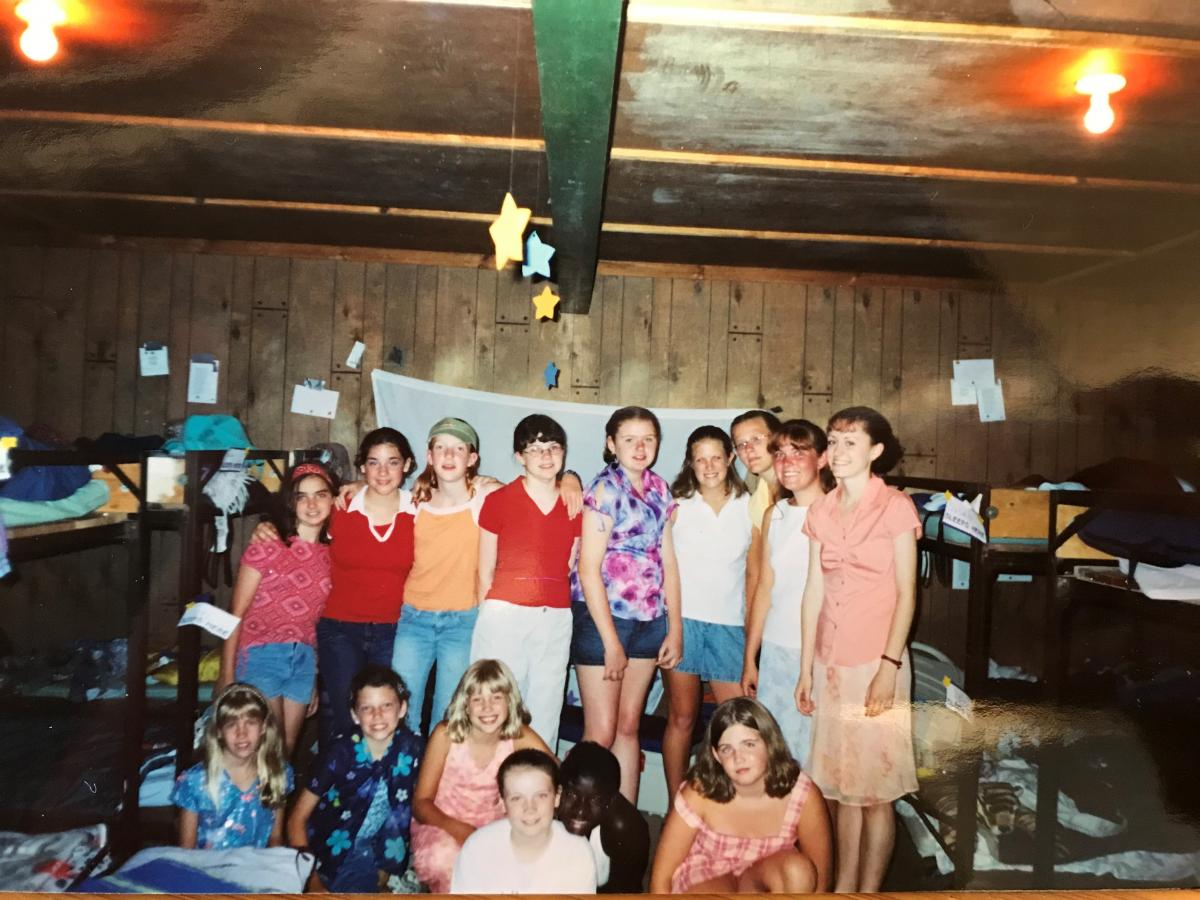 Crystal serving as a camp counselor at 4-H Camp Ohio.