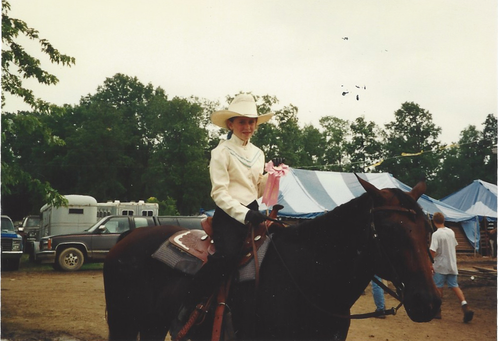 Crystal at a horse show.