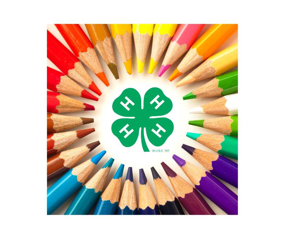 Colored pencils with 4-H clover