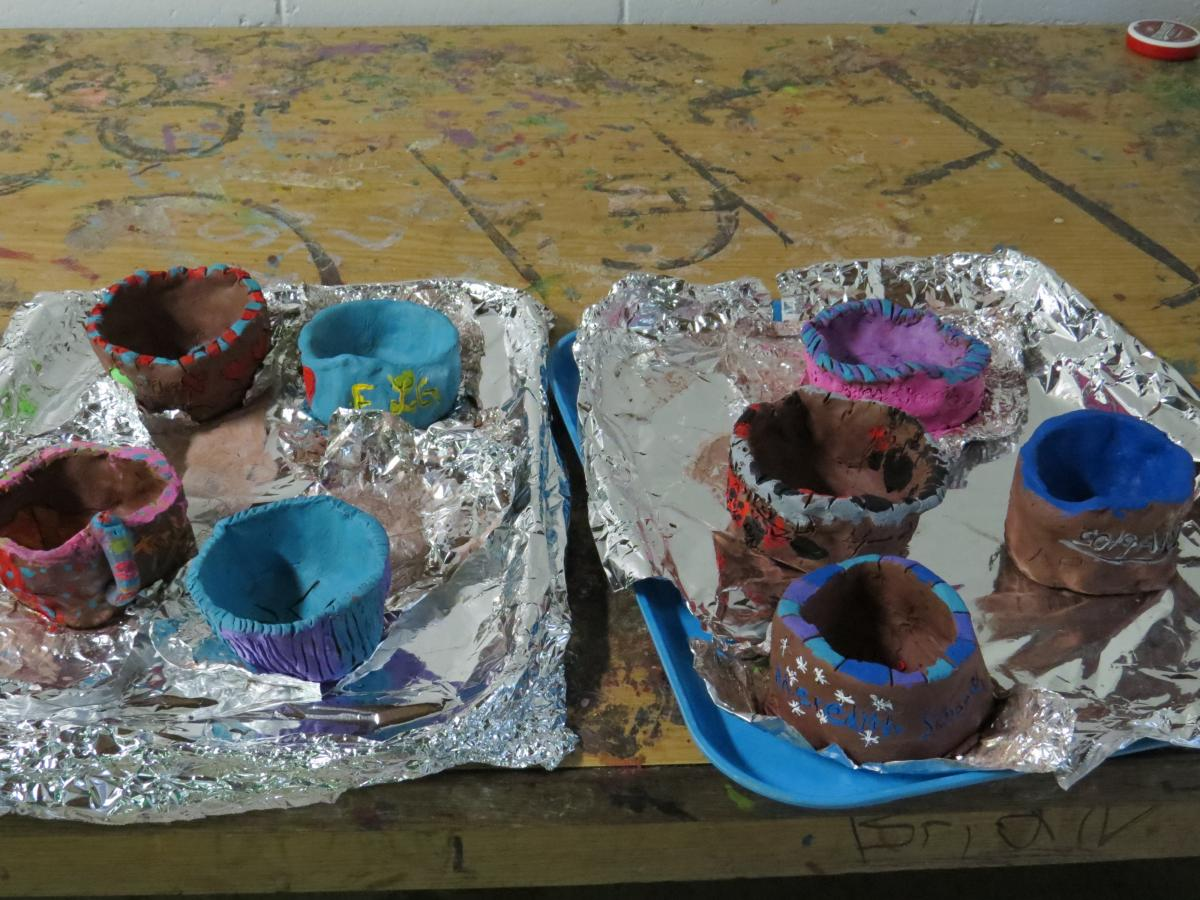 Pottery made at Washington County 4-H Camp.