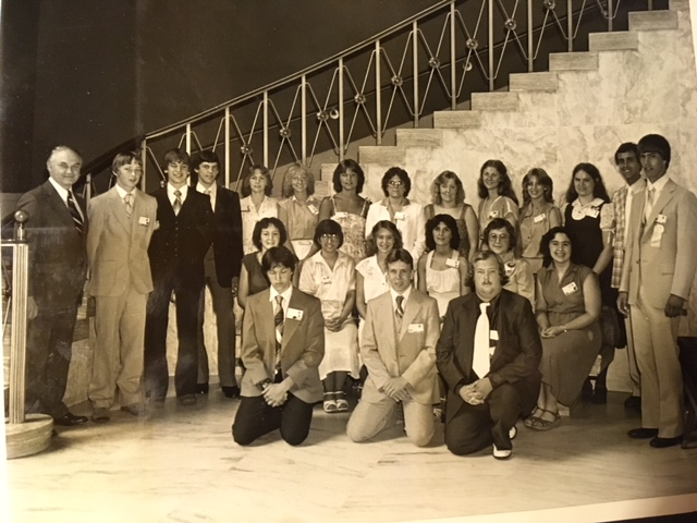 Mary Jane (standing, third from right) at Citizenship Washington Focus, 1980.