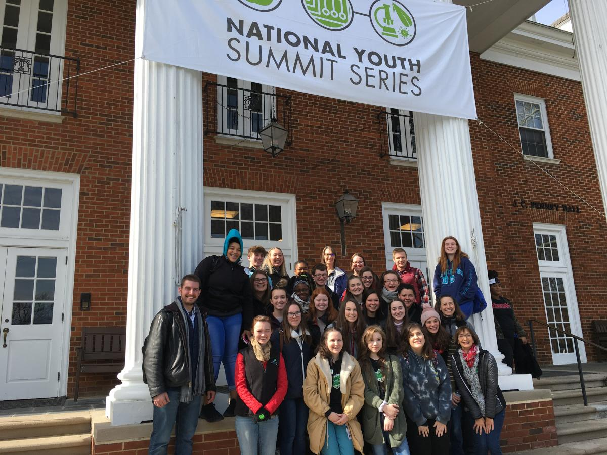 Ohio 4-H Health Heroes team at the 2020 National 4-H Healthy Living Summit, held February 13-16 at the National 4-H Conference Center in Chevy Chase, Maryland