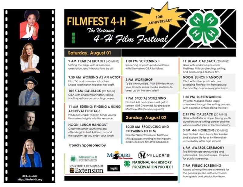 FilmFest 4-H Speaker line up