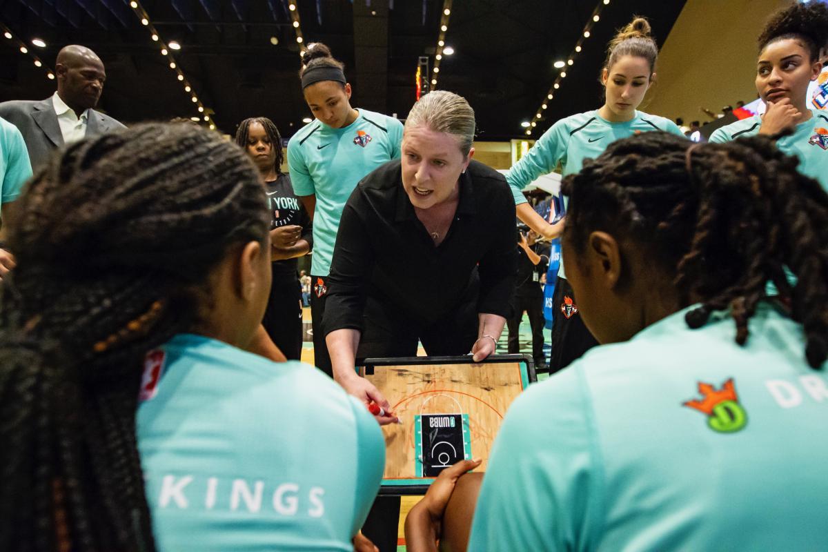 Katie Smith coaching.