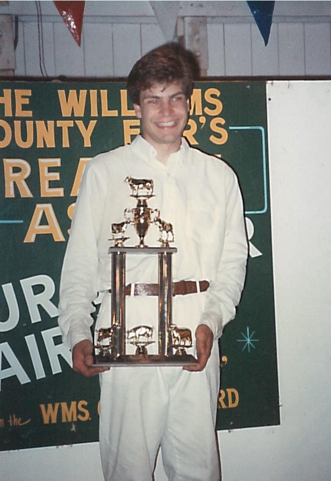 Kirk won the Williams County Fair Showmanship Sweepstakes.