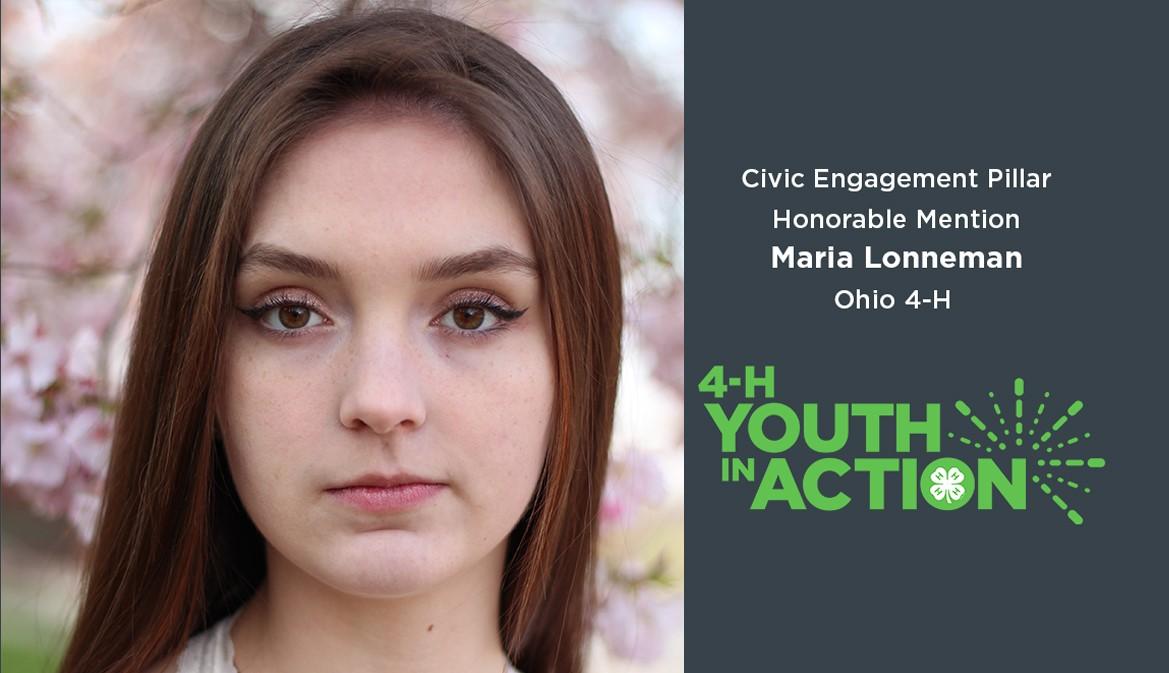 Maria Lonneman, Civic Engagement Pillar Honorable Mention