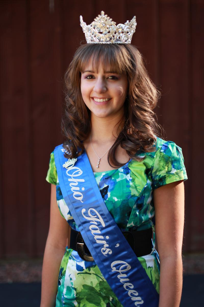 Headshot photo - Heather Wilson wearing her Ohio Fairs Queen crown and sash.