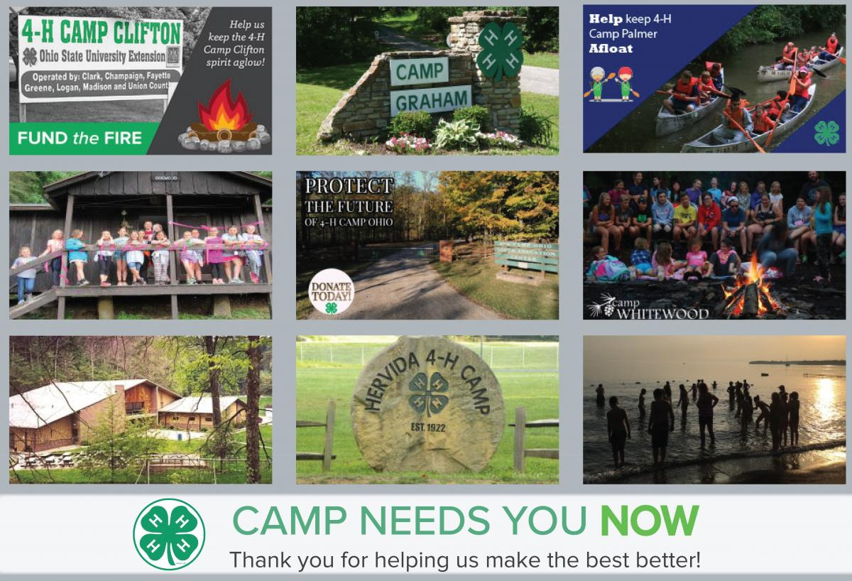 Thank you for supporting the 4-H Camp Needs You Now campaign!