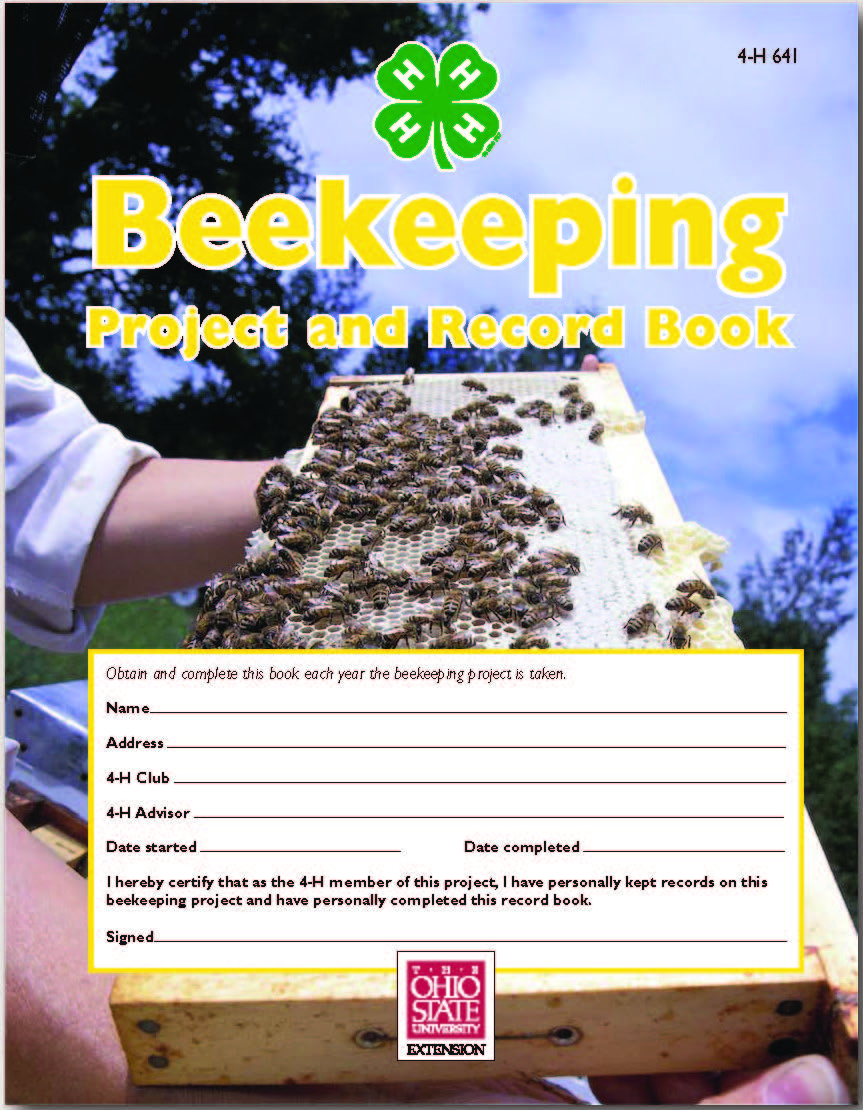 4-H beekeeping project book