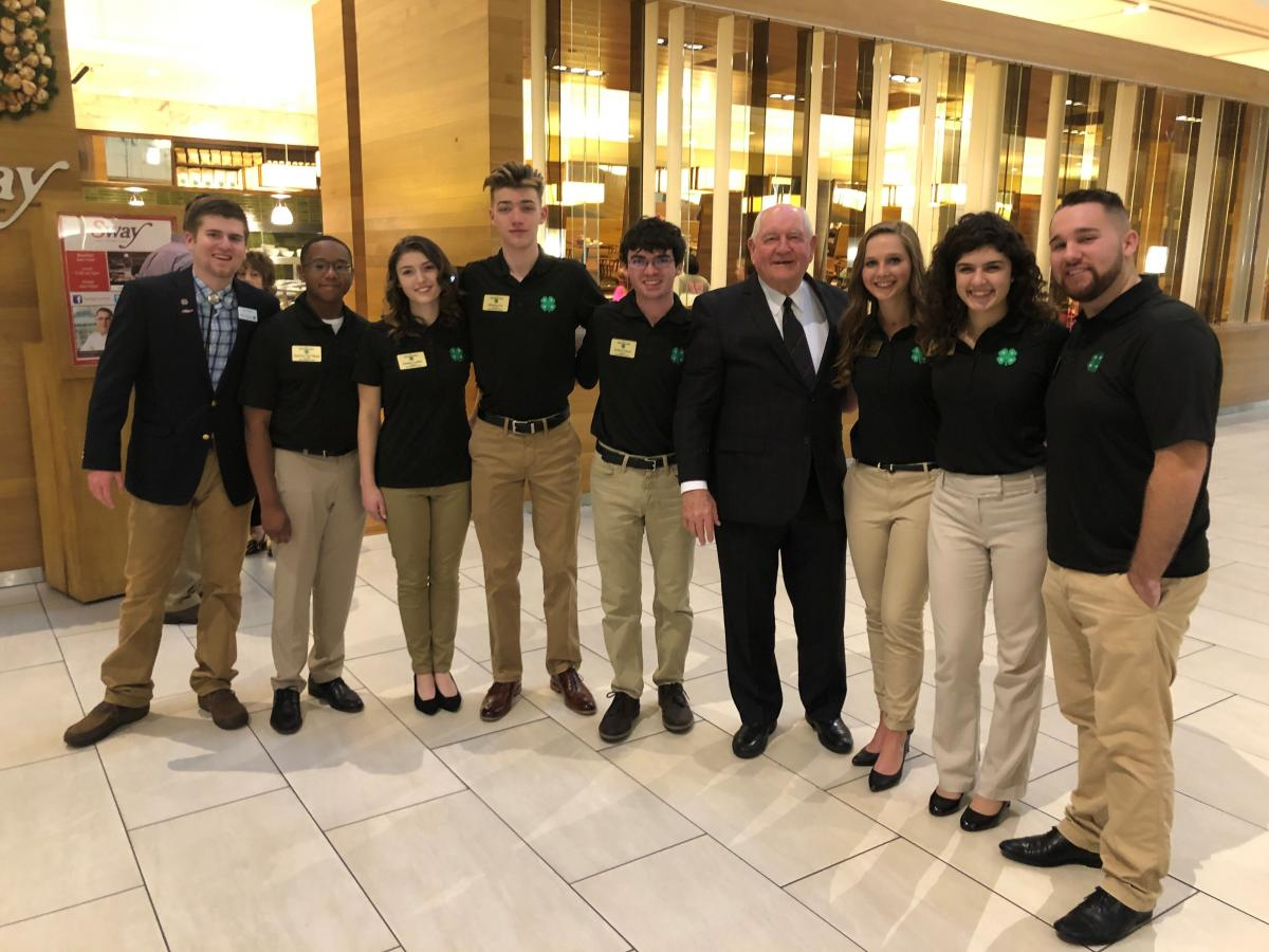 Design Team members with Secretary of Agriculture Sonny Perdue.