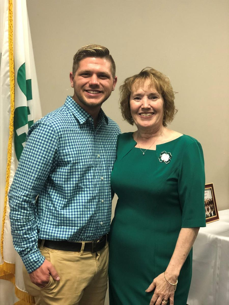 Kameron with his 4-H educator, Nadine Fogt.