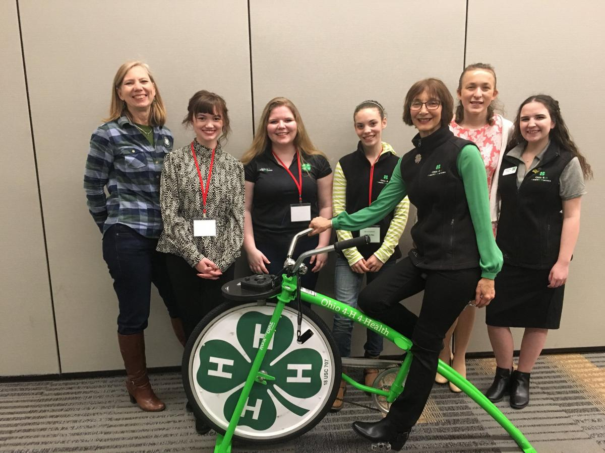 Health Heroes with the 4-H Blender Bike at the 2019 Ohio 4-H Conference