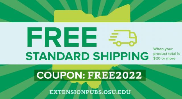 Green and white coupon for free shipping of $20 or more at FREE2022