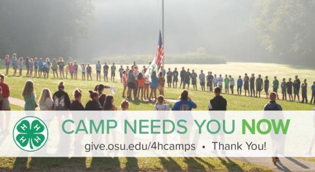 Camp flag ceremony - thank you