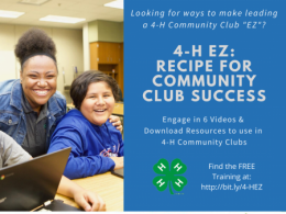 4-H EZ: Online Volunteer training