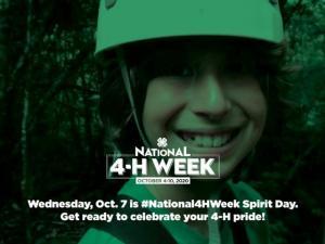 October 7 is National 4-H Spirit Day.