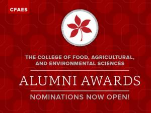 The College of Food, Agricultural, and Environmental Sciences Alumni Awards nominations now open!