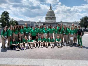 A group of Ohio 4-H'ers participating in Capitol Hill visits during CWF.