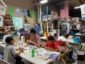 Cheng and his team working on a rocket.