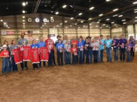 Celebrity exhibitors and their 4-H members.