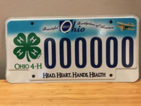 Ohio 4-H license plate