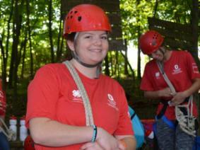 Campers at Ohio 4-H Leadership Camp.