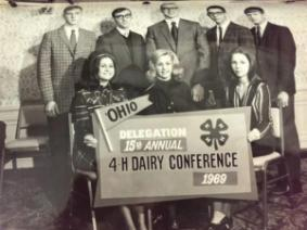 Ayars at the 1969 4-H Dairy Conference.